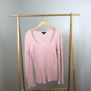 Express • Pointelle Sweater Ruffles Rabbit Hair